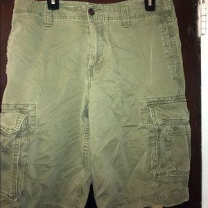 Men's Green Cargo Shorts